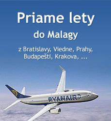 Priame lety do Malagy z Bratislavy, Prahy, Viedne, Budapešti, Krakova,...