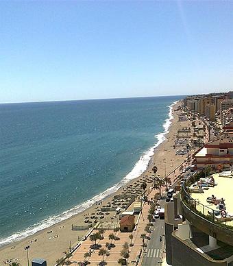Pláž na Costa del Sol